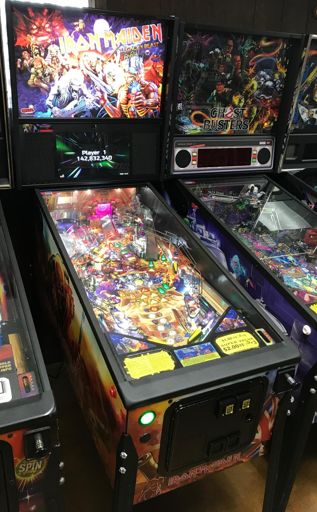 2018 Stern Iron Maiden at Ann Arbor Michigan Pinball Museum